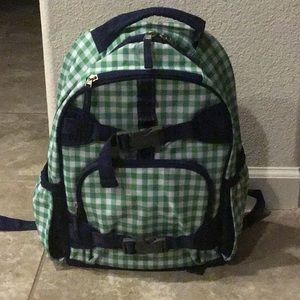 Other - NWOT green gingham kid size backpack